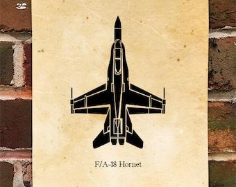 KillerBeeMoto:  McDonnell Douglas F/A-18 Hornet Limited Print