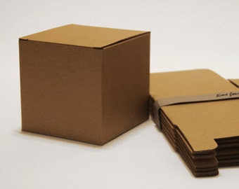 Set of 10, Kraft Larger Gift Box, Cube, Good for any occasion