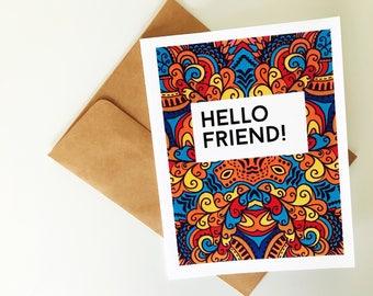 Artsy Friendship Card