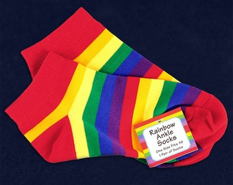 Rainbow Ankle Socks (1 Pair - Retail) (RE-SOC-RB)