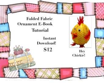 E-Book Tutorial for folded fabric chick