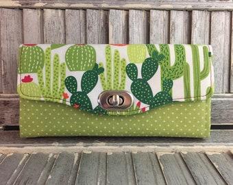 Cactus Succulent Necessary Clutch Wallet