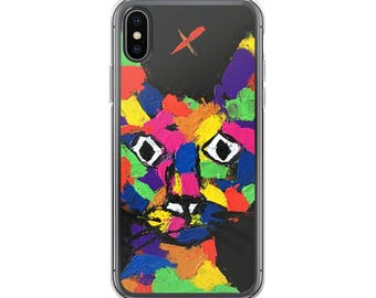 iPhone Cases, iPhone X Case, iPhone 6/6S, iPhone 7/7+ Cases ,Case iPhone 8/8+ Case, Abstract Cat print