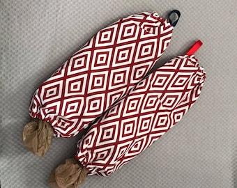 Plastic Grocery bag holder, storage, kitchen storage, camper storage
