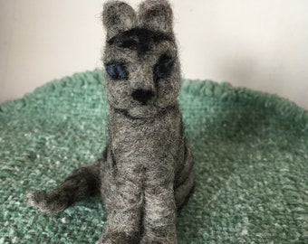 Needle Felted Tiger striped cat