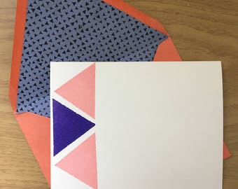 Geometric Triangle notecards (set of 4)