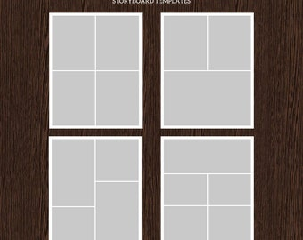16x20 Photo Storyboard Templates - Photo Collage Template - PSD Template - Resize to 8x10 -  For Photographers - Instant Download - S220
