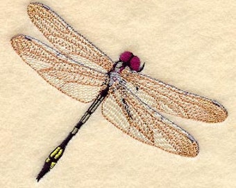 Palefaced Clubskinner Dragonfly Embroidered Flour Sack Hand/Dish Towel