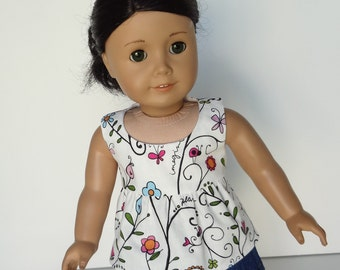 18 Inch Doll Clothes -- Tunic Top -- 1 Piece (5-19)