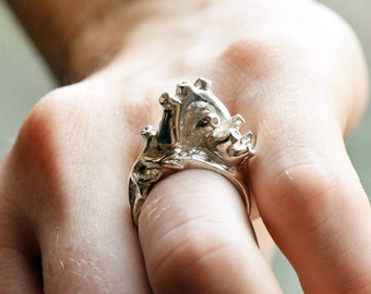 Silver Anatomical Heart Ring