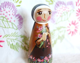 Saint Therese of the Child Jesus Peg Doll