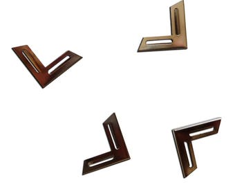 Set of 4 corners - perforated - metal free