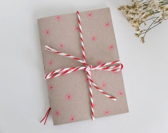 Watercolor pink daisies notebook