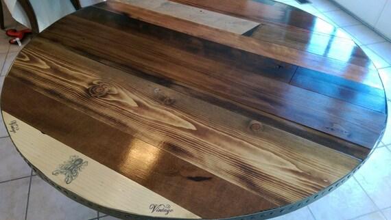 Industrial & Steampunk Wood Pedestal Dining Room Table
