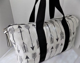 Duffel Bag Market Overnight Summer Weekender Carry On School Gym Multipurpose Women's Bag Washable Cotton Roll Up Go & Stow
