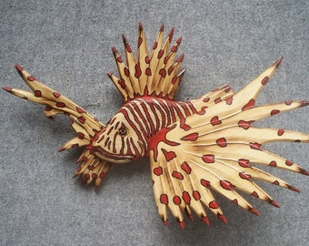 Baby Lion Fish Version 1 Wall Sculpture