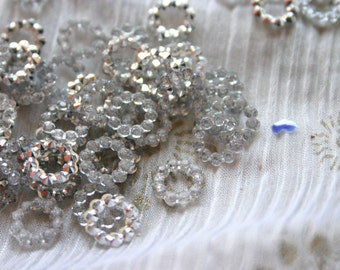 Sparkling Stars - Bollywood Rhinestone circles 7mm (4)