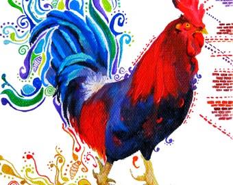 Rooster - Print of original illustration