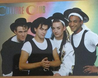 Very Rare Vintage Boy George Culture Club Blank Greeting Card