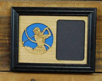 5x7 Golf Picture Frame, Girls Golf Frame, Boys Golf Frame, Golf Gift, Golf League, Holds 3x4 Picture