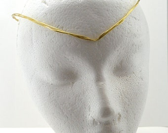 Oversized Delicate Golden Pointed Crown- Simple Fantasy Costume  or wedding Circlet