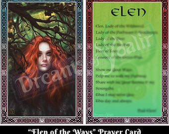 Elen of the Ways Prayer Card
