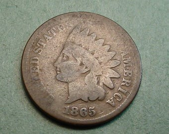 1865 Indian Head Cent Good<> The Coin you see is the coin you get /Insurance Included in SH <>ET6409