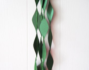 Metallic Green Garland / Green Bunting / Marquise shape Garland Shiny / Dorm Decor / Photo Prop