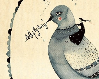Lets Fly Away - Art Print