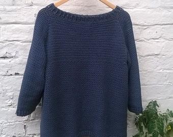 Wren - Crochet Pattern for Women's Sweater - DK Instant Download PDF