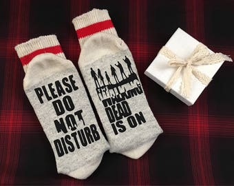 Valentines Day Walking Dead socks - Mothers Day, Fathers Day, husband birthday , birthday gift , anniversary , zombies, Father's Day