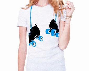SALE! Hanging Roller Skates Fitted T-Shirt