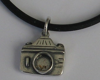 Sterling  Camera Pendant