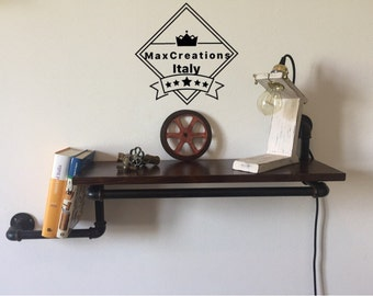 Vintage Industrial style shelf/shelving in hydraulic tubes.