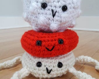 Crochet blood product,blood cell, crochet red blood cells, crochet platelet, crochet white blood cell