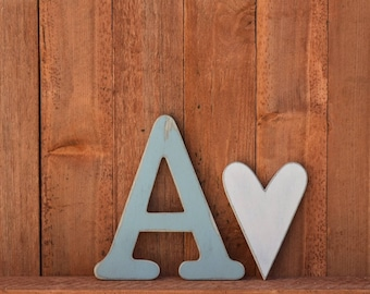 Nursery Letters, Baby Name, Individual Wood Letters
