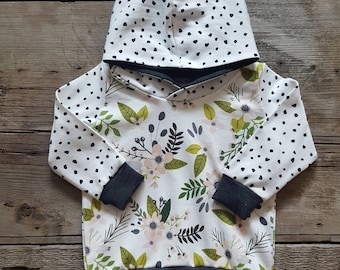 Floral and Dot Hoodie