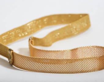 Gold Mesh Head Band