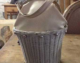 Vintage Bucket Basket Purse