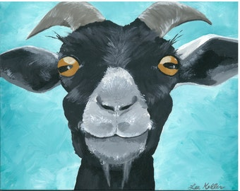 """Goat Print Instant Download """"Willie"""""""