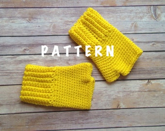 Crochet Fingerless Gloves Pattern, PDF Download PATTERN,