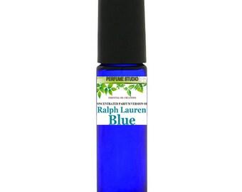 Ralph Lauren Blue Inspired Perfume Oil. Custom Blend Oil with Similar Notes to Ralph Lauren Blue Pefume for Women, 10ml Cobalt Glass Roll on