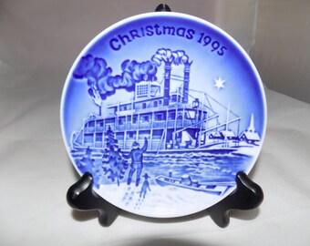 XMAS DANISH PLATE Bing And Grendahl Christmas In America 1995 Plate