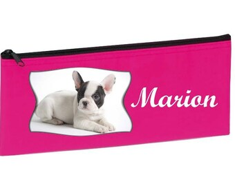 School Kit pink french Bouldog personalized with name