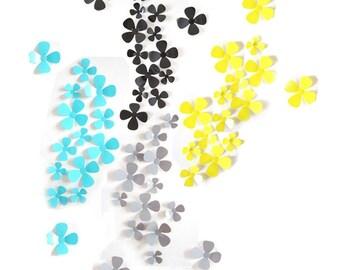 12 flowers, 3D, 4 colors