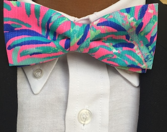 His & Her Lilly Pulitzer Coco Breeze Bow Tie and Bow Bracelet Set