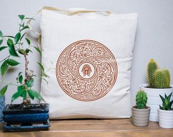 Tote Bag Egypt Bandana - cotton bag, canvas bag, beach bag, hand bag, hieroglyphs, pharaoh, Toutankhamon, egyptian art