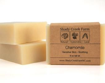 Chamomile Soap, All Natural Soap, Vegan Soap, Sensitive Skin Soap, Handmade Soap, Herbal Soap, Unscented Soap, Bath Soap, Facial Soap