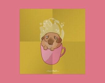 Print A4-A5 ~ Fluffy Coffee