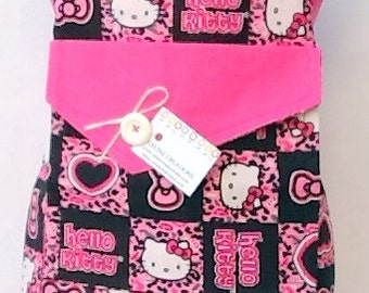 Kids Apron  Hello Kitty In Cheetah Patch Design